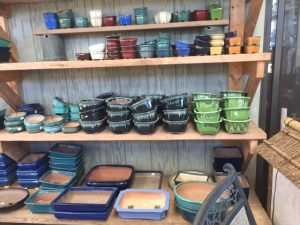 small glazed bonsai pots